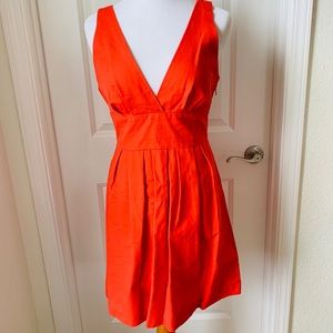 BB Dakota Coral Red Fit and Flare Dress